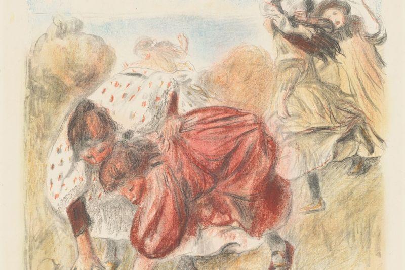 Children Playing Ball (Enfants jouant a la balle) by Auguste Renoir