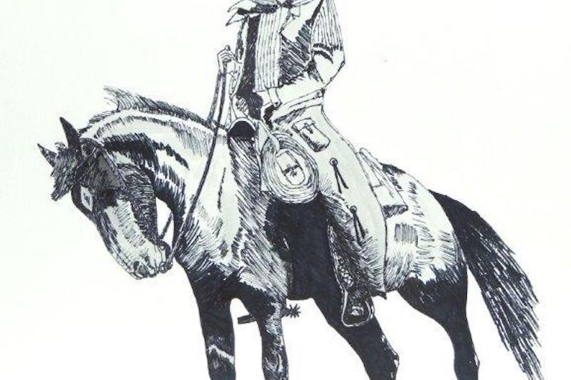 """""""Dandy,"""" a Pen and Ink Drawing by James Seward"""