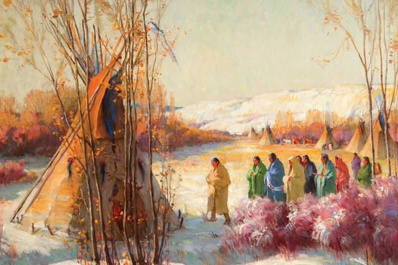 """Call of the War Chiefs"" by Joseph Henry Sharp"