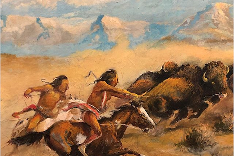 Buffalo Hunt by William Standing