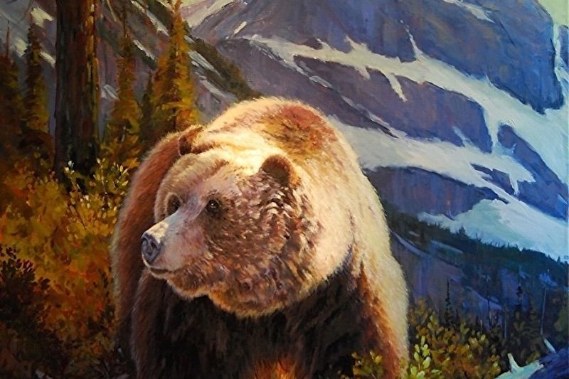 Painting by Whitefish artist Rob Akey