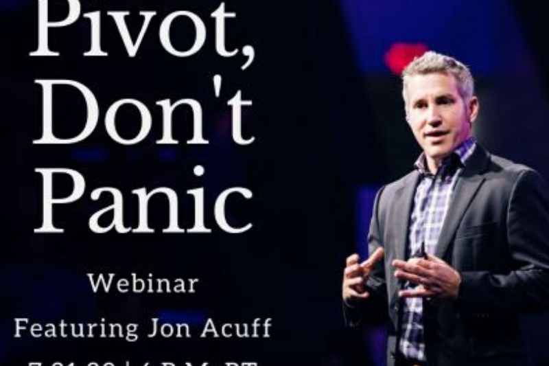 Pivot, Don't Panic! With New York Times Bestselling Author, Jon Acuff