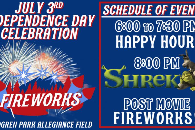 Paddleheads' July 3 Celebration