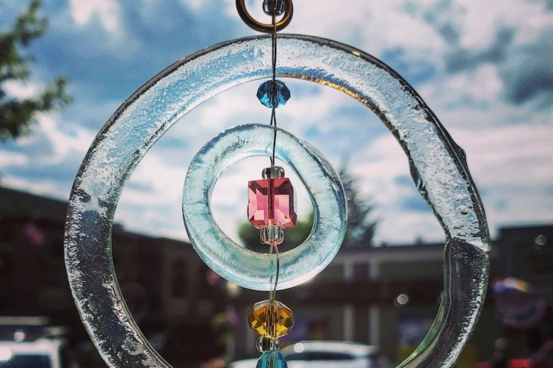 Glass chime by Julie Ellis