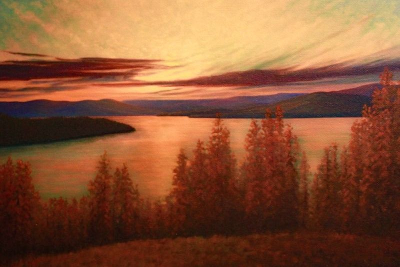 Flathead Sunset by Miki Kapor
