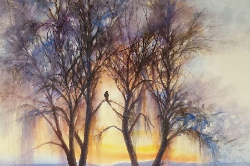 Painting by MWS member Roberta Burruss