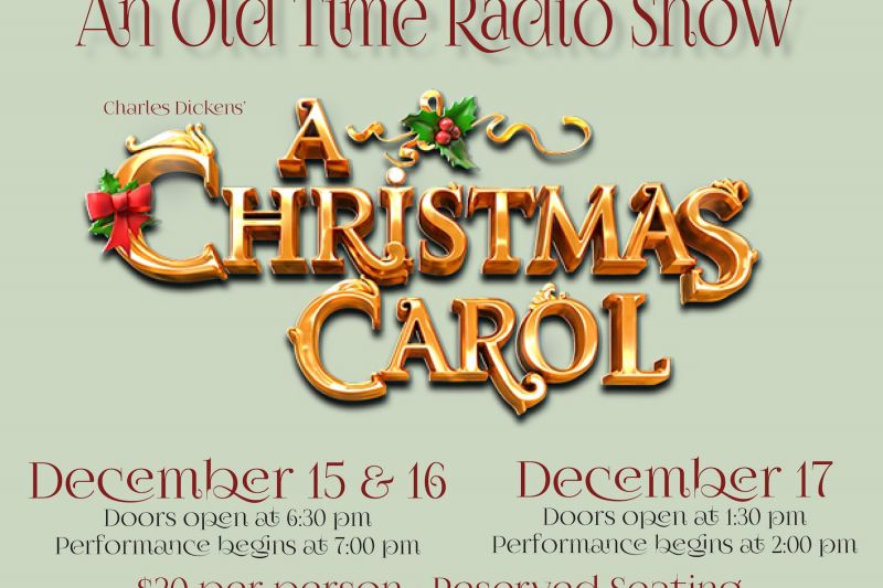 old time radio show at the conrad mansion musuem - Old Time Radio Christmas