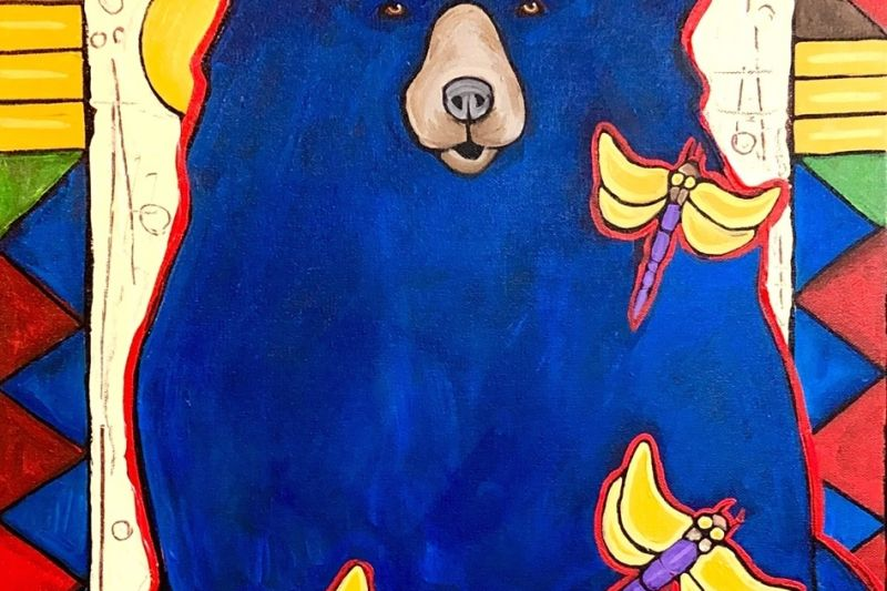 Blue Bear with Dragon Flies by DG House