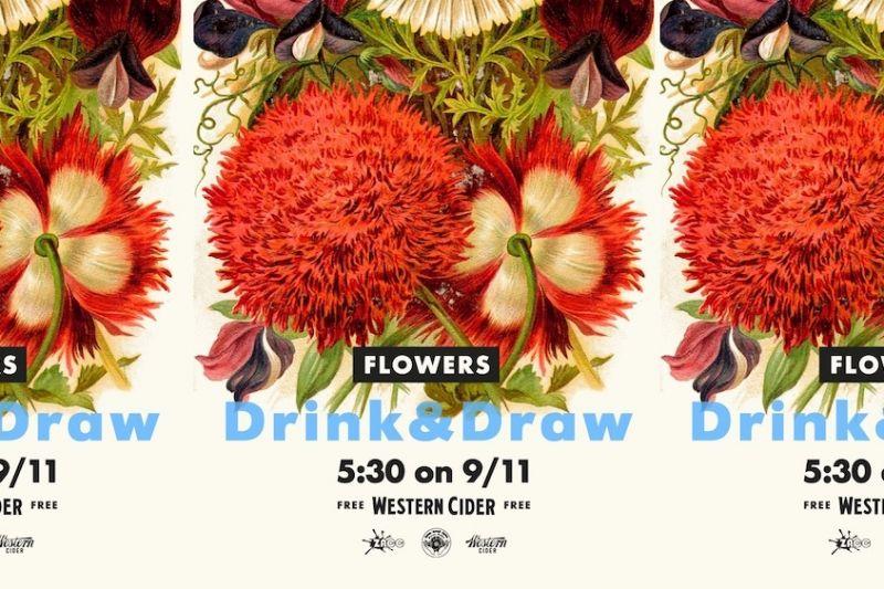 Drink & Draw Flowers by Farm Hand Farm