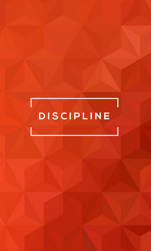Lock screen wallpaper image for phone - StrengthsFinder talent theme of Discipline