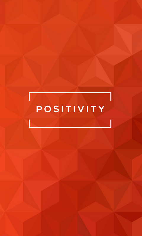 Lock screen wallpaper image for phone - StrengthsFinder talent theme of Positivity