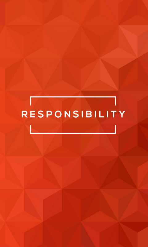 Lock screen wallpaper image for phone - StrengthsFinder talent theme of Responsibility