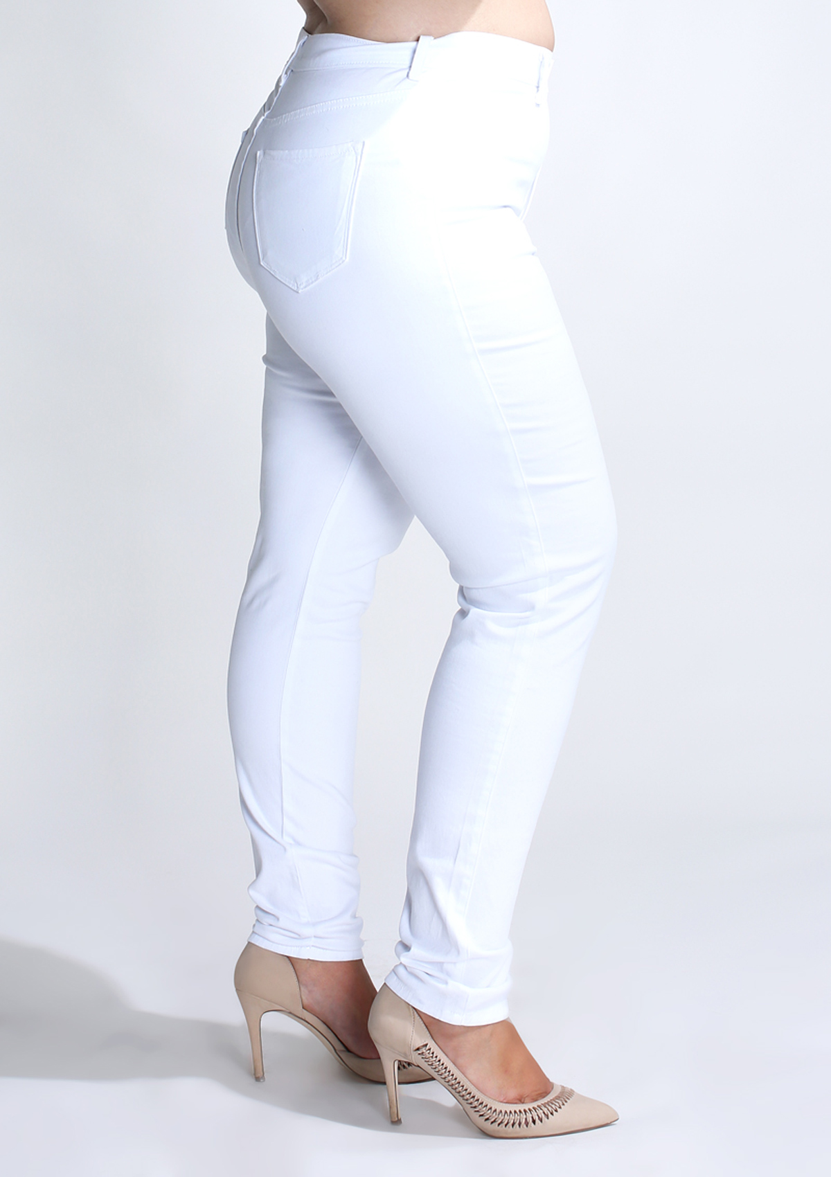 PLUS High Rise Skinny Jeans