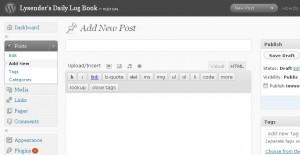 My Newly Upgraded WordPress
