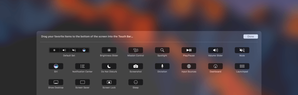 customize touchbar macbookpro image2