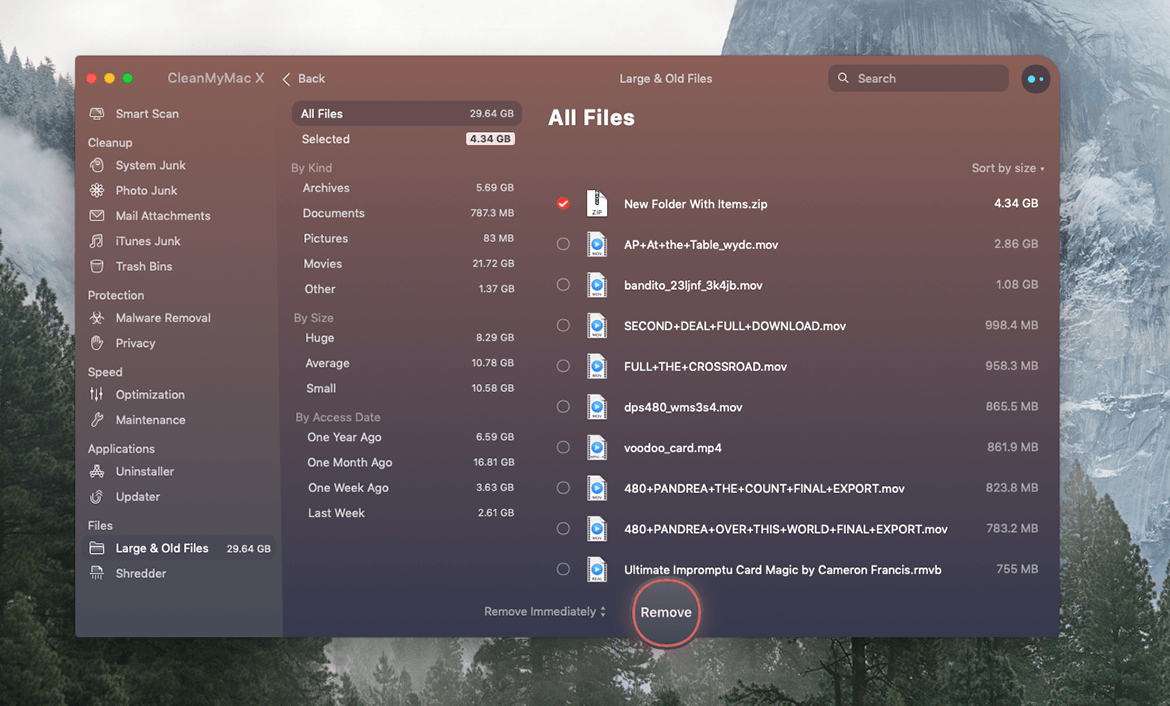 remove old useless files mac image4