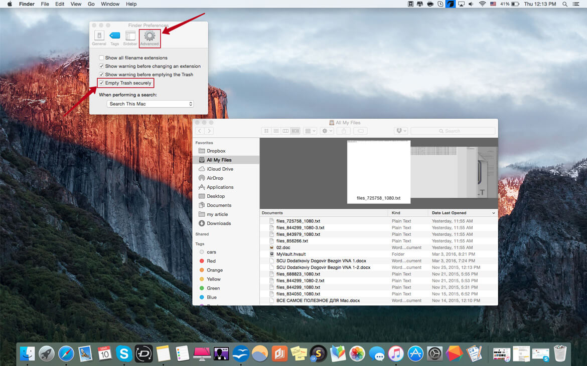 permanently delete files mac image1