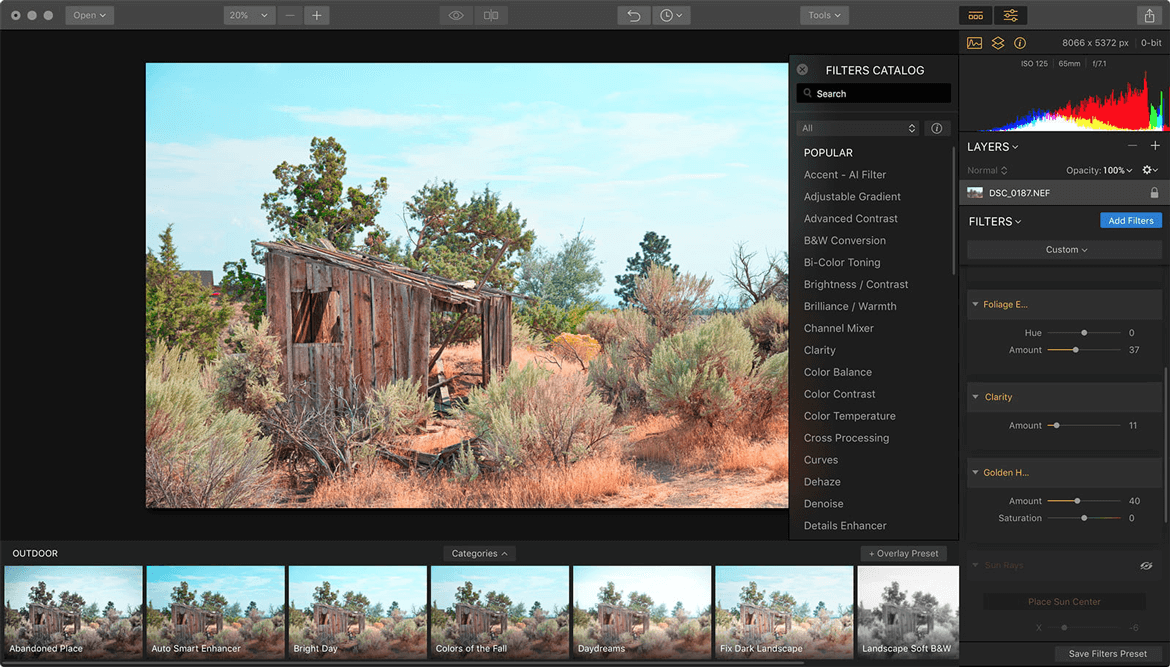Luminar - Best Photo Editing App on Mac