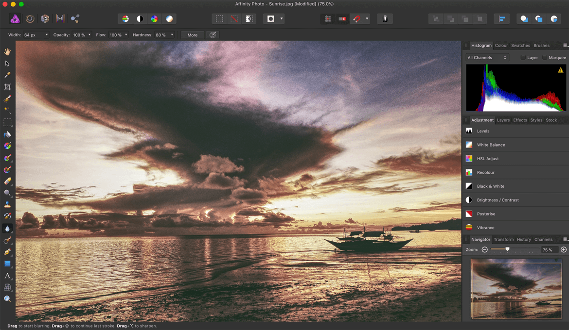 Try Affinity Photo Editing App on Mac