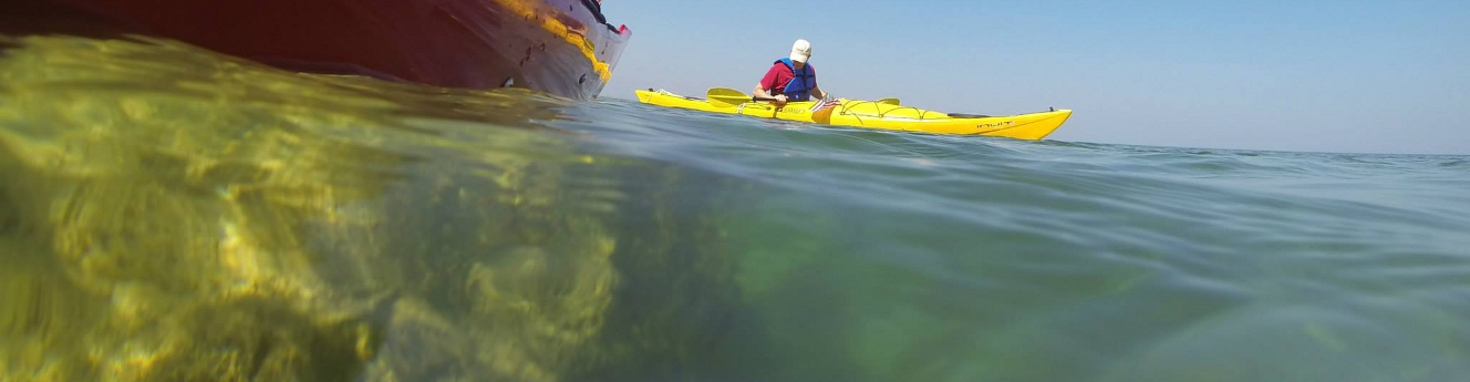 Kayaking the Rock Maze near Arch Rock - Mackinac Island, MI