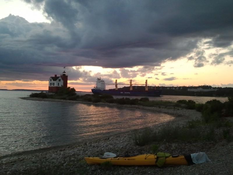 Sunset on Round Island