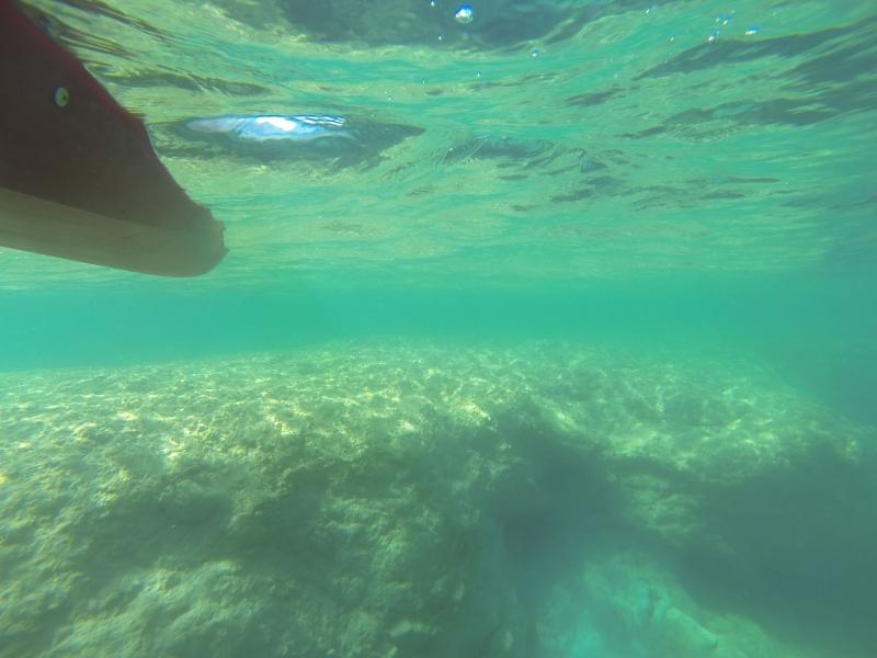 Explore underwater caves near Arch Rock