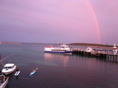 Rainbow over Haldimand Bay on Lake Huron