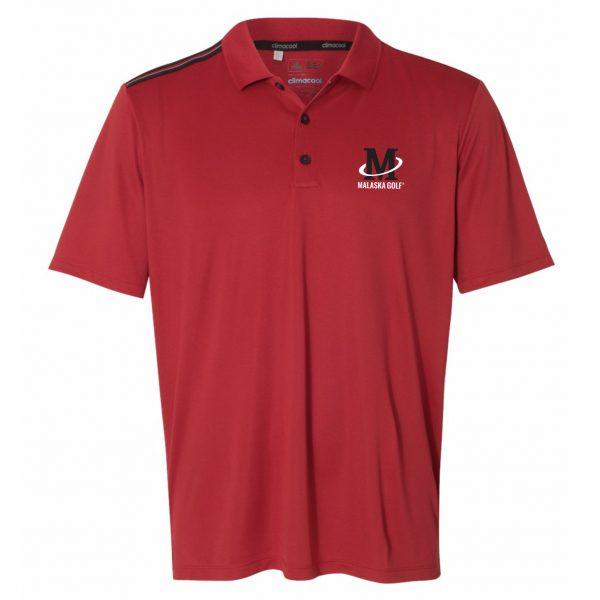 Adidas - Climacool 3-Stripes Shoulder Sport Shirt - Red