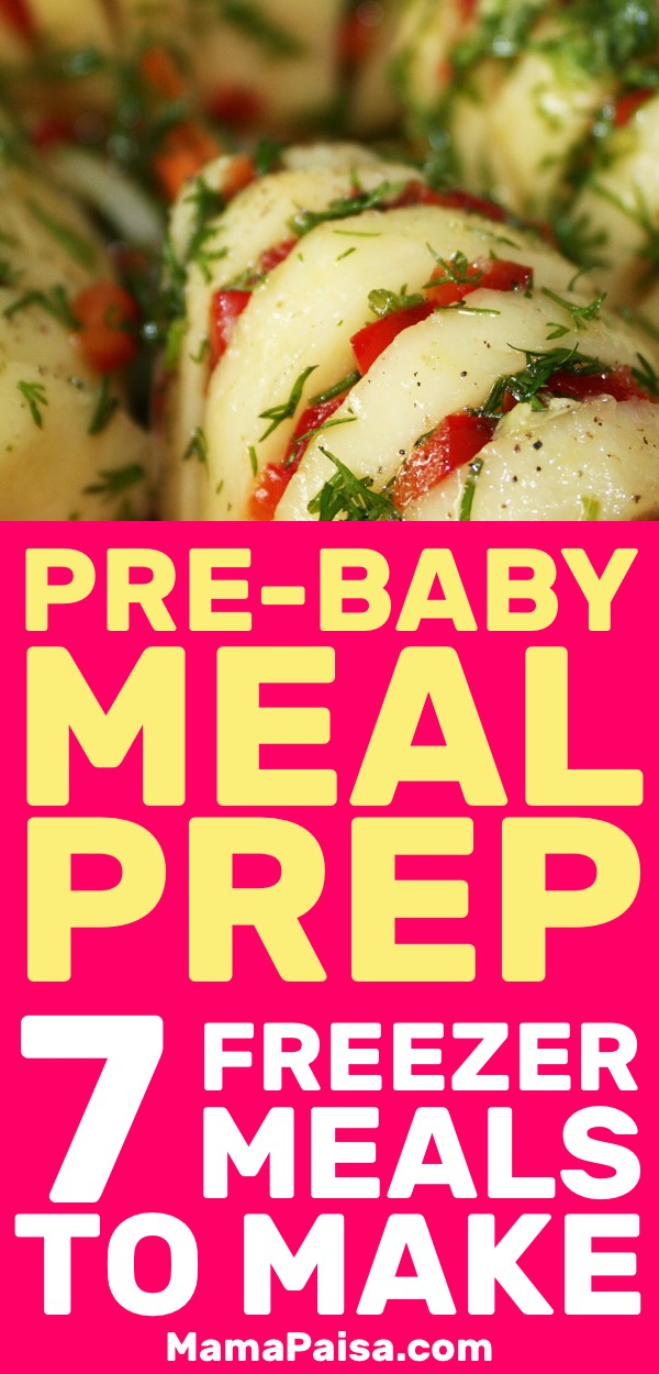 Before going into labor I wanted to make sure I had some easy to make meals ready that were also healthy. These freezer meals were just the ticket!