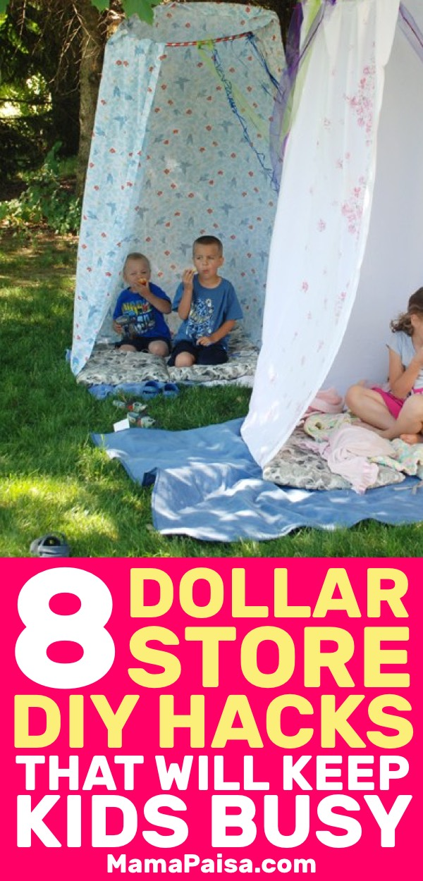 I was looking for some kids activities and came across these awesome hacks that you can use from Dollar Store items. My kids will never be bored again!