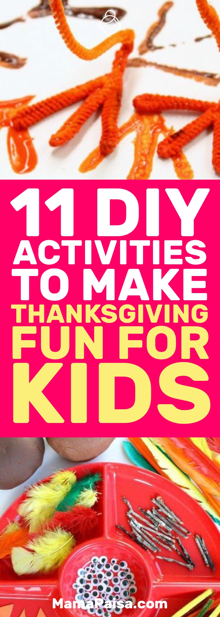 I was looking for some fun Thanksgiving activities for my kids and came across these 11 awesome ones that we could do together. #DIY #Crafts #KidsActivities
