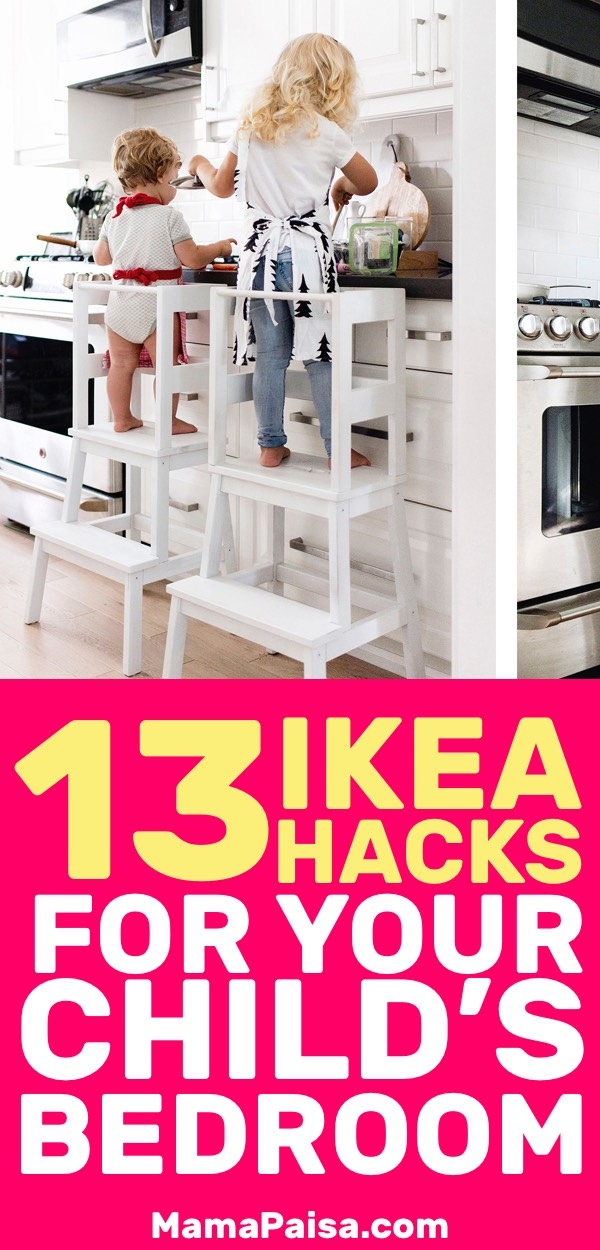 I'm always on the lookout for better ways to organize my kids' stuff. These 13 IKEA hacks for kids hits just the right spot.