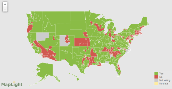 MapLight Launches Interactive Maps To Track Campaign Contributions - Us farm locations interactive map