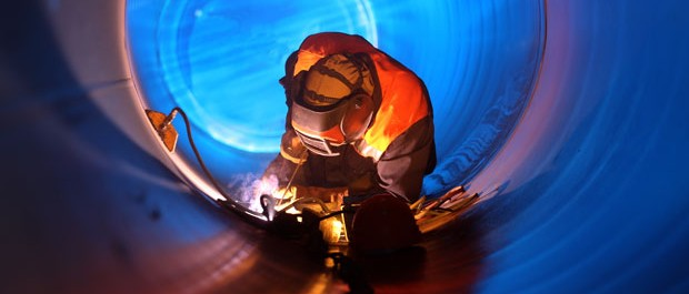 Welding on site pipes