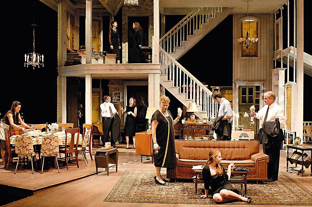 A Scene From The Steppenwolf Theater Companys Production Of Tracy Lettss August Osage County At Imperial In New York City November 2007