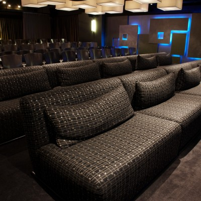 The screening room seats 120. Photo by Maarten de Boer.