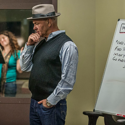 DLF Voiceover Lab Founder & Instructor Paul Pape. Photo by Neil Jacobs.