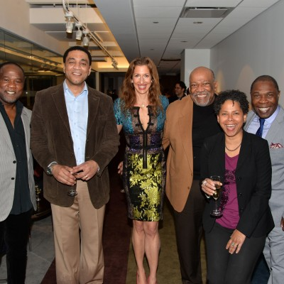 Alysia Reiner, Michael Potts, and Isiah Whitlock attend the Opening of SAG Foundation Actors Center In New York