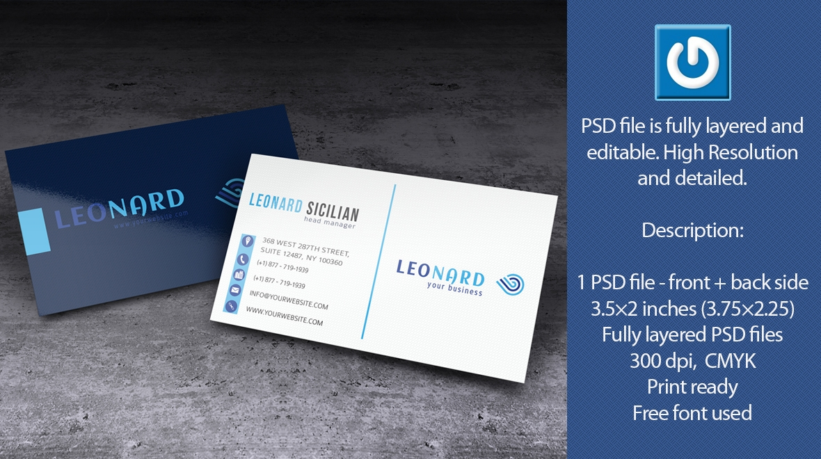 Simple - and Clean Business Card - Leonard - Logos & Graphics