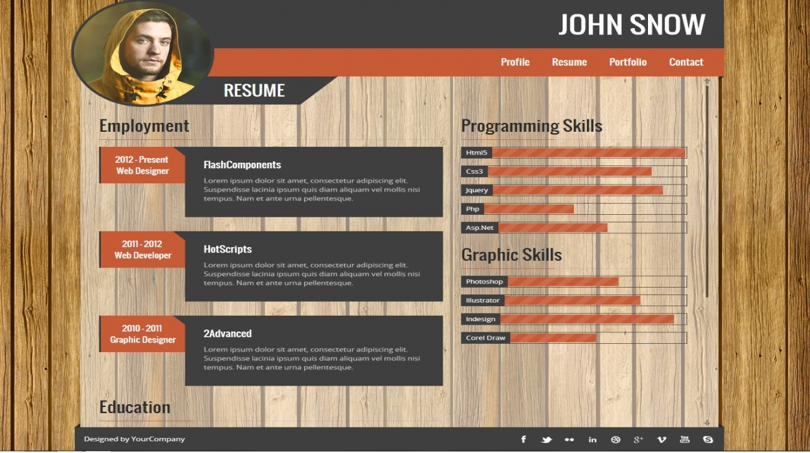 Vcard portfolio resume template themes templates 11 sales pronofoot35fo Choice Image