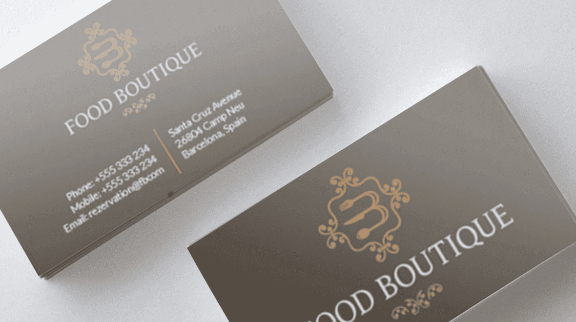 Restaurant - Business Card - Food Boutique - Logos & Graphics
