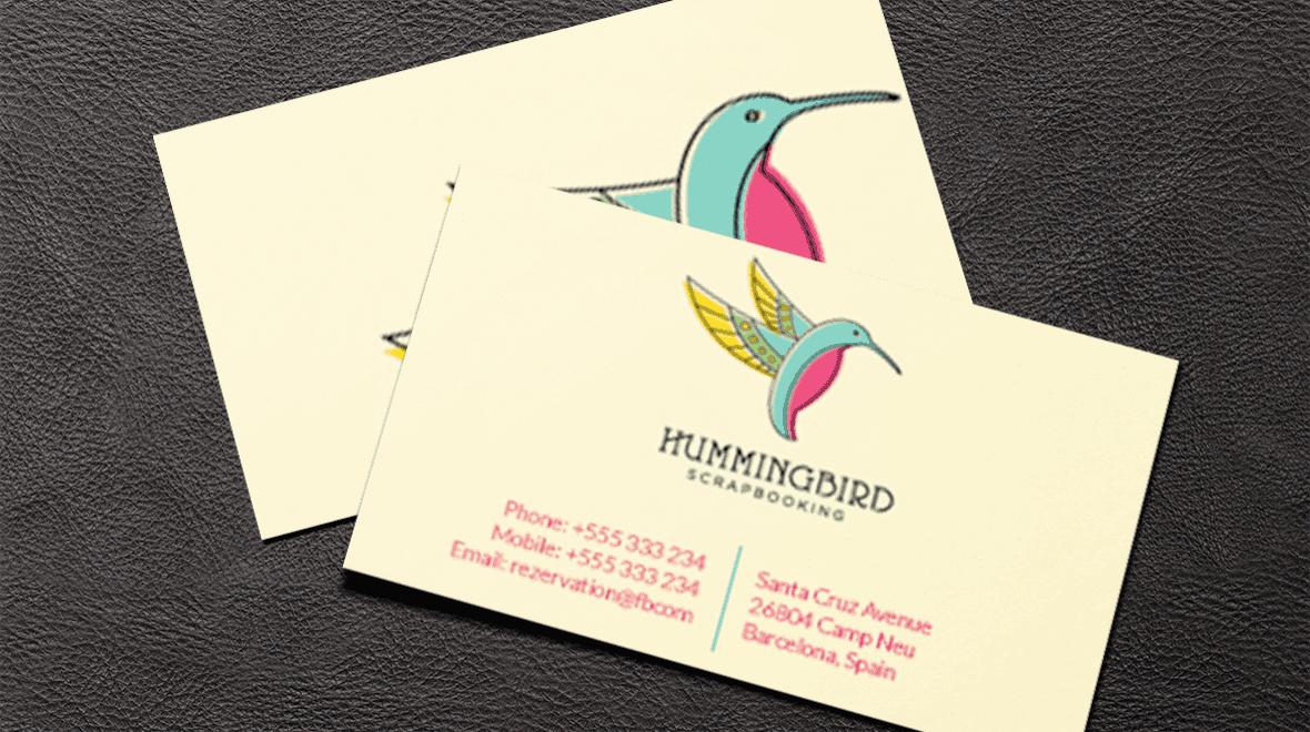 Business card hummingbird logos graphics item details business colourmoves