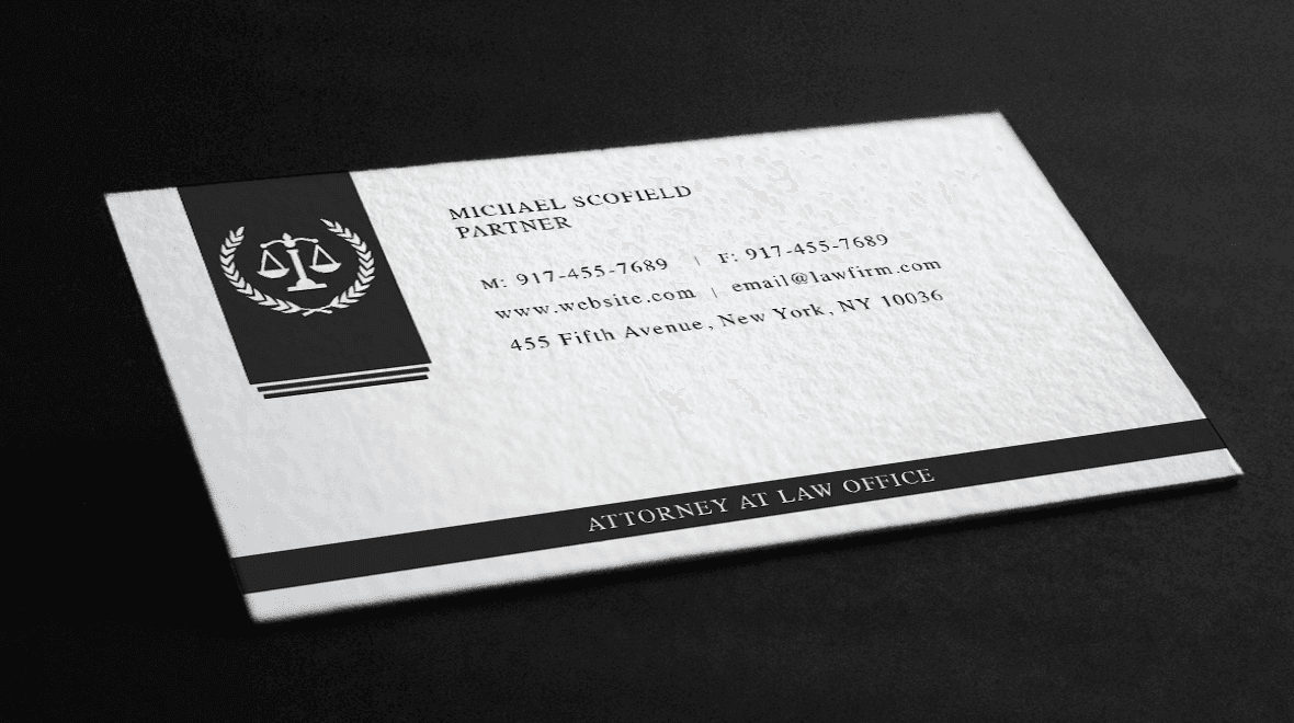 Justice - Law Business Card - Logos & Graphics