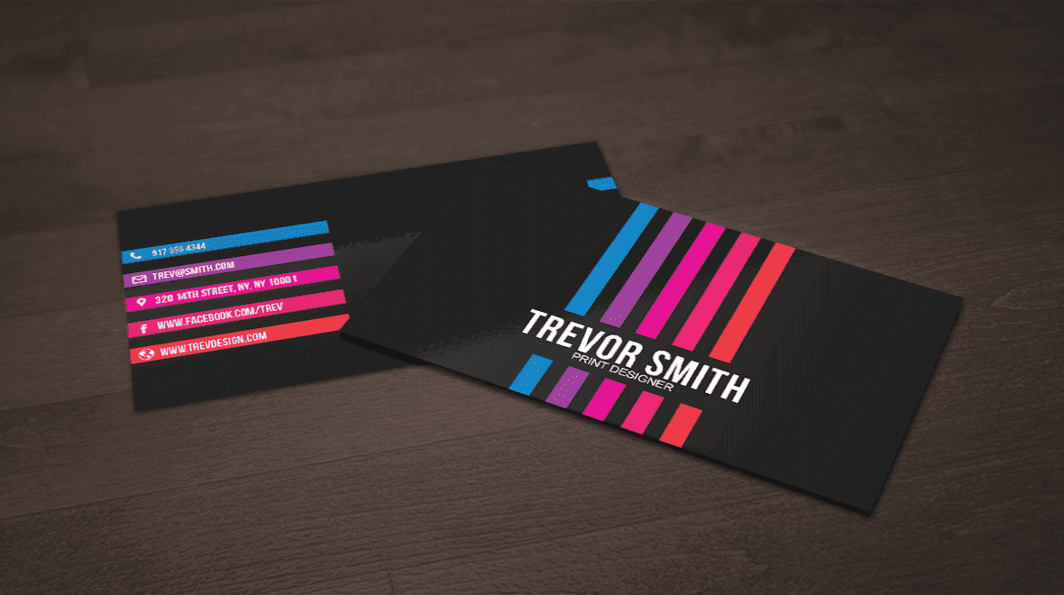 Stylish - Colorful Business Cards - Logos & Graphics
