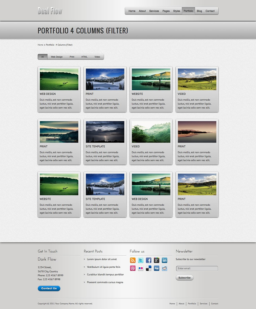 dual flow premium html5 business template themes templates