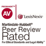 Lexis Nexis, Martindale-Hubbel, Peer Review Rated For Ethical Standars and Legal Ability
