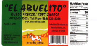 Listeria Outbreak linked to El Albuelito Brand Queso Fresco Cheese, Seven Hospitalized