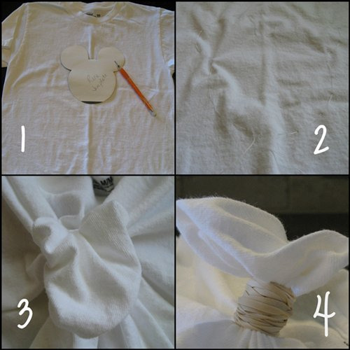 How to make mickey head tie dye shirts kids activities for How do you dye a shirt