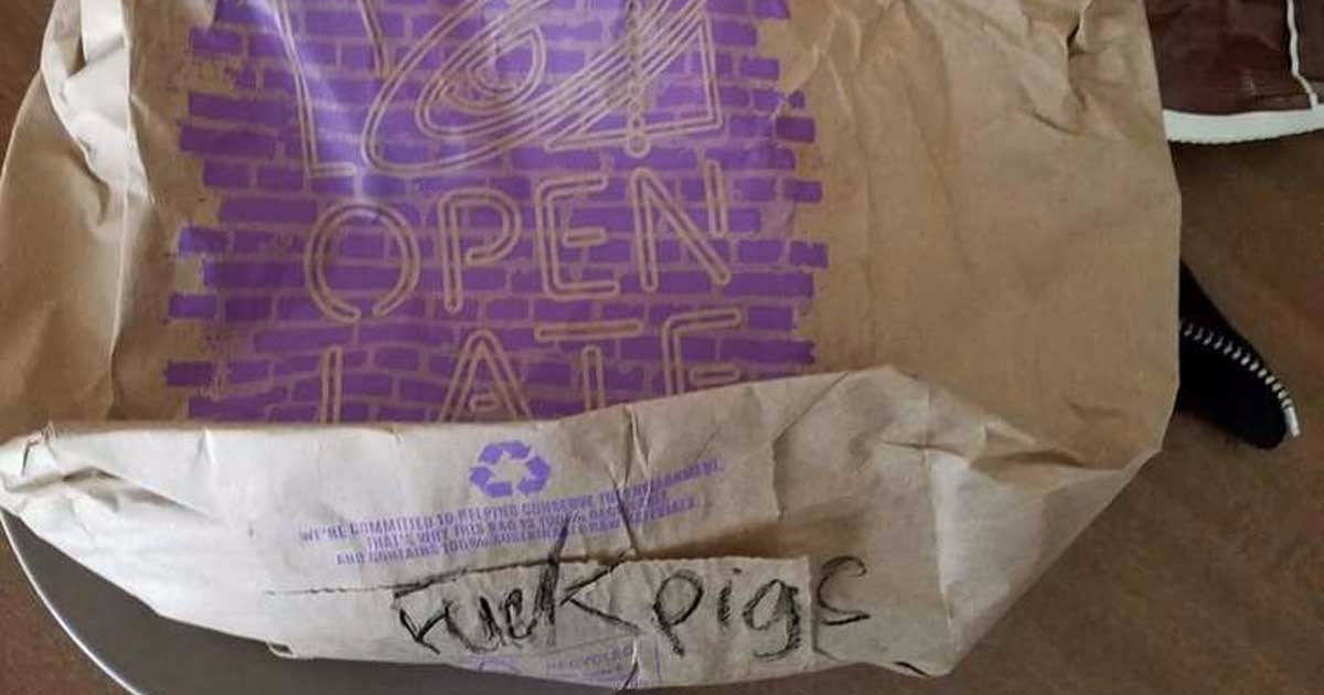 Houston Officer Finds Profane Anti-Police Message On Taco Bell Bag, Company Responds