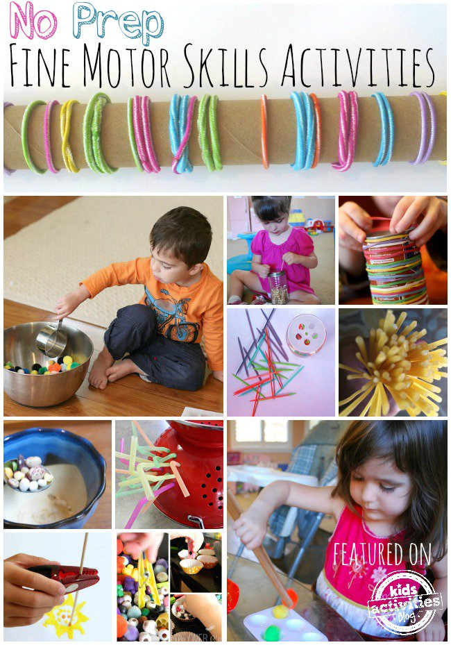20 no prep fine motor skills activities kids activities. Black Bedroom Furniture Sets. Home Design Ideas
